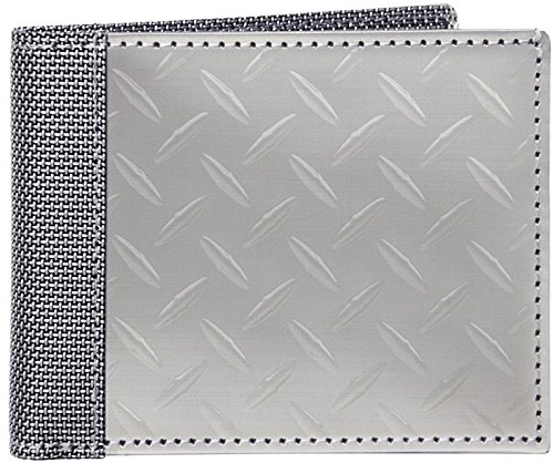 Stewart Stand Diamond Plate Stainless Steel Wallet