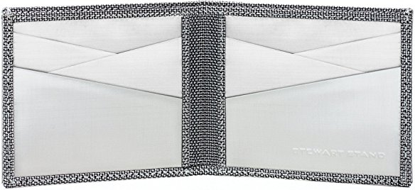 Interior of Stewart Stand Diamond Plate Stainless Steel Wallet