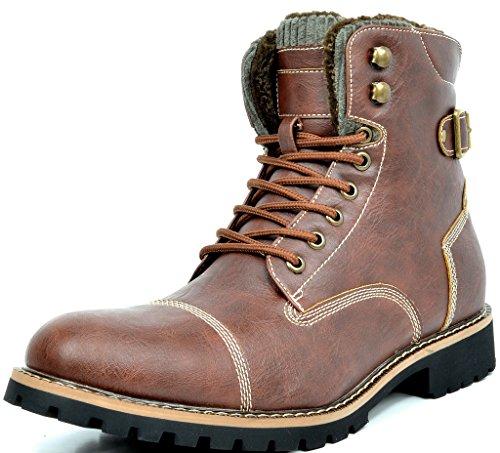 4ebcf3dd2254 bruno-marc-men-work-vegan-boots-ankle-brown - Vegan Men Shoes