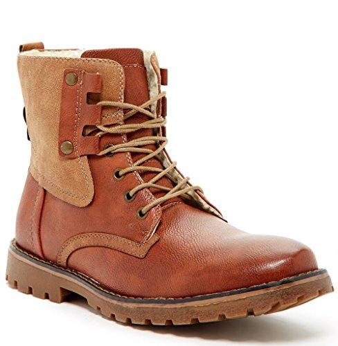 Light Work Mens Boots: Giraldi-kallighan-men-boots-vegan-work-light-brown