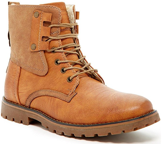 Giraldi Kallighan Tan Mens Fashion Faux Shearling Lined Boots