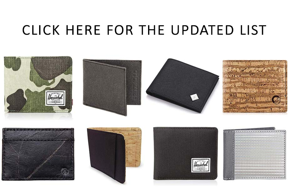 Updated List of Vegan Wallets for Men