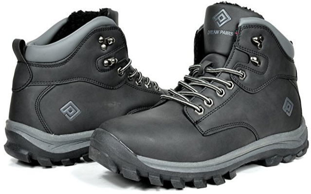 DREAM PAIRS Men's Winter Insulated Laced Up Water Resistant Snow Boots Shoes