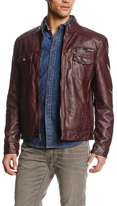 Kenneth Cole Vegan Faux-Leather Jacket