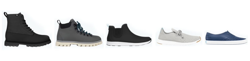 Native Shoes' Collection of Vegan Footwear for Men in 2018