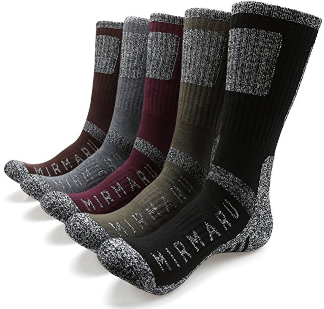 MIRMARU Men's Multi Performance Vegan Bamboo Socks for Fall/Autumn