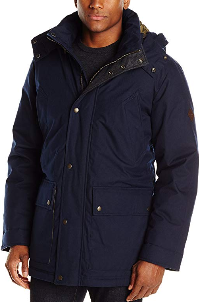 Cole Haan Vegan Men's Brushed Flannel Parka for Fall/Autumn