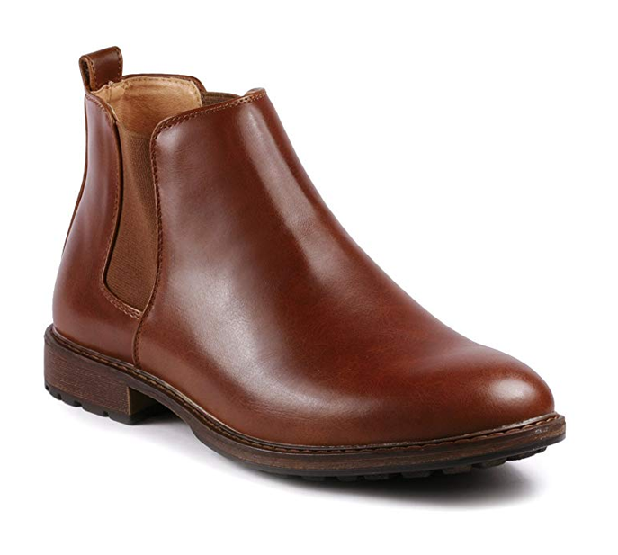 Metrocharm Men's Formal Dress Chelsea Ankle Vegan Boots