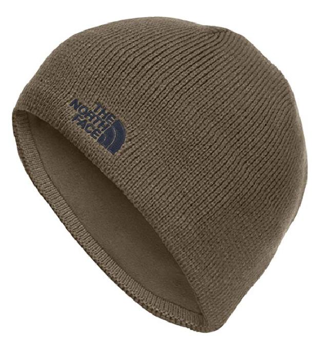 North Face Vegan Brown Skull Cap Beanie Hat for Fall