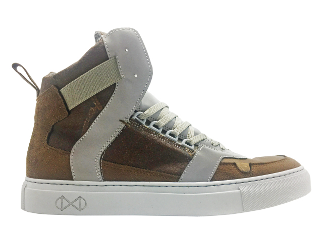 nat-2 Coffee Line Unisex High-Top Sneakers