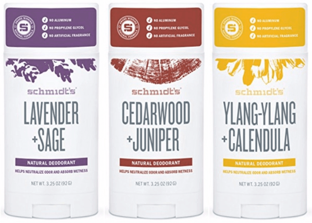 Schmidt's Vegan Deodorant Variety Pack including Lavender, Cedarwood and Ylang-Ylang