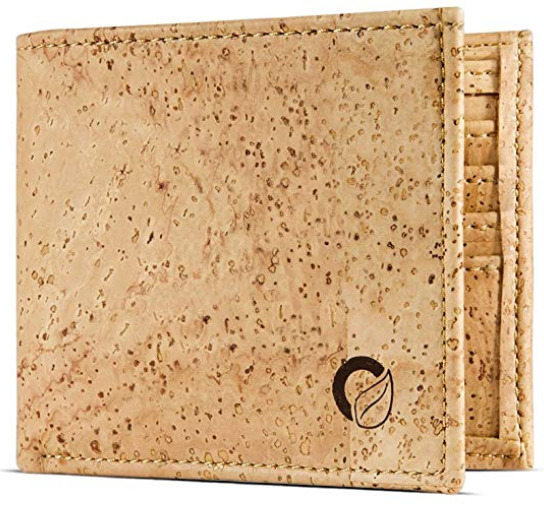 Corkor's Light Brown Cork Vegan Wallet for Men