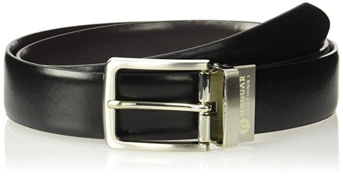 Haggar's Dress Casual Vegan Leather Belt for Men