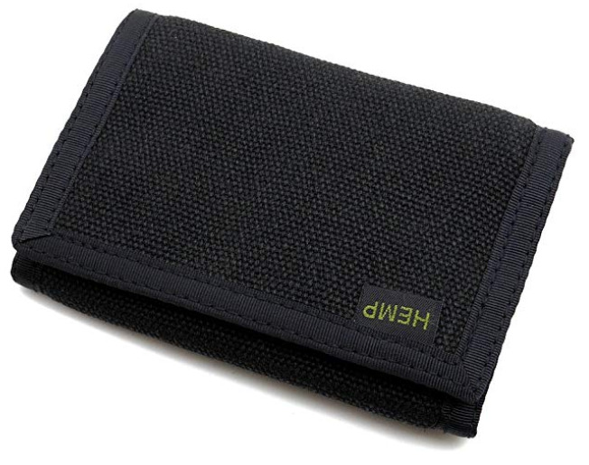 Hempmania's Hemp Trifold Vegan Wallet for Men
