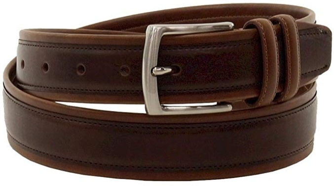 Nautica Men's Brown Vegan Leather Belt