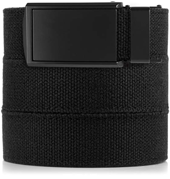 Slidebelt's Black Vegan Leather Belt for Men