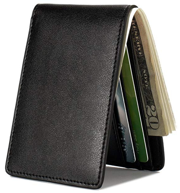 Slim Front Pocket Vegan Leather Wallet for Men