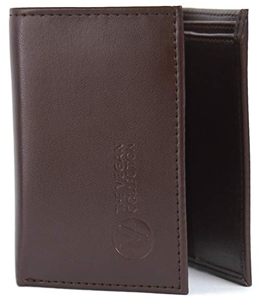 The Vegan Collection's Brown Bifold Vegan Wallet for Men