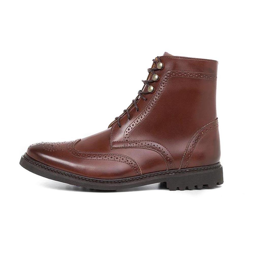 Ahimsa Wingtip Boots Vegan Dress Shoes for Men