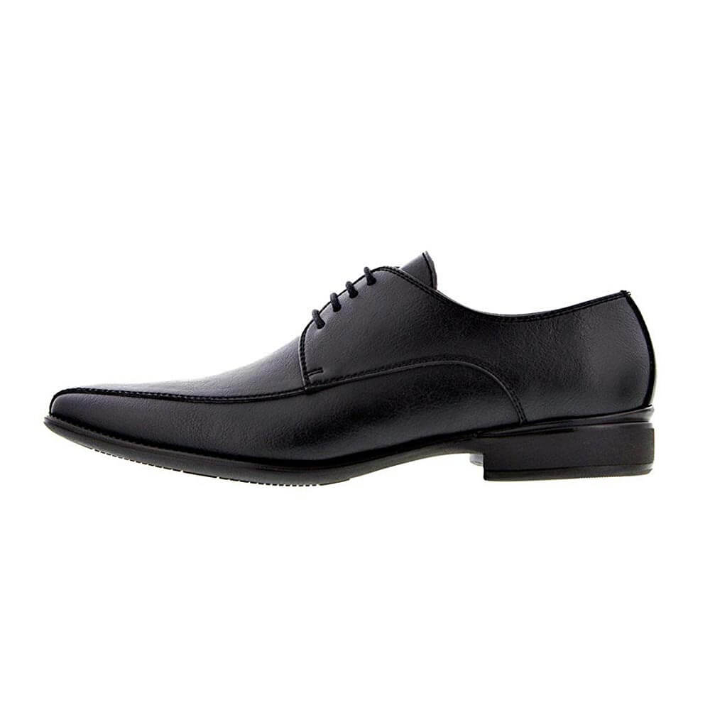 NOAH Enrico Vegan Black Mens Dress Shoes