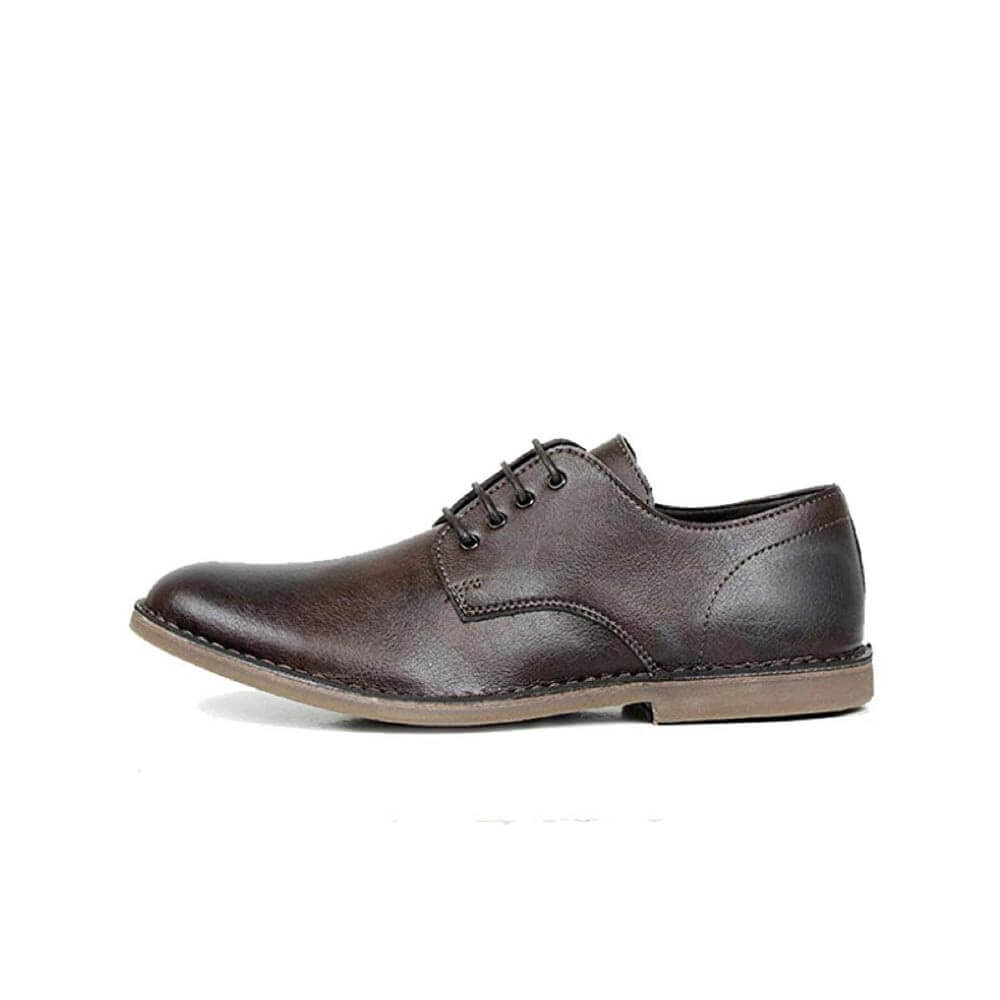 Wills Vegan Derbys Brown Mens Dress Shoes