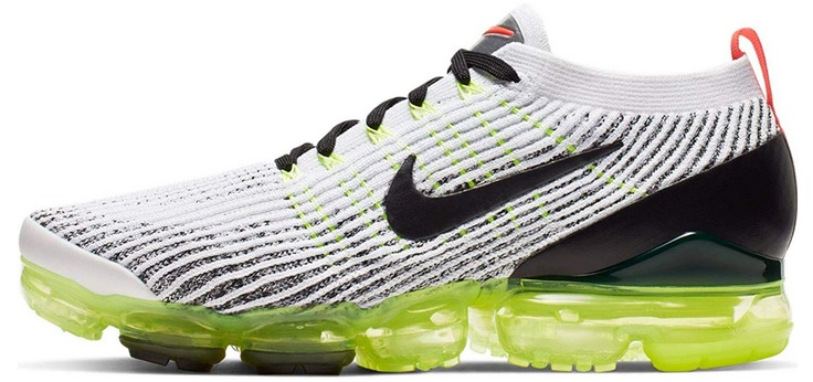 Vegan Nike Men's Air VaporMax 3.0 Flyknit White and Green Running Shoes
