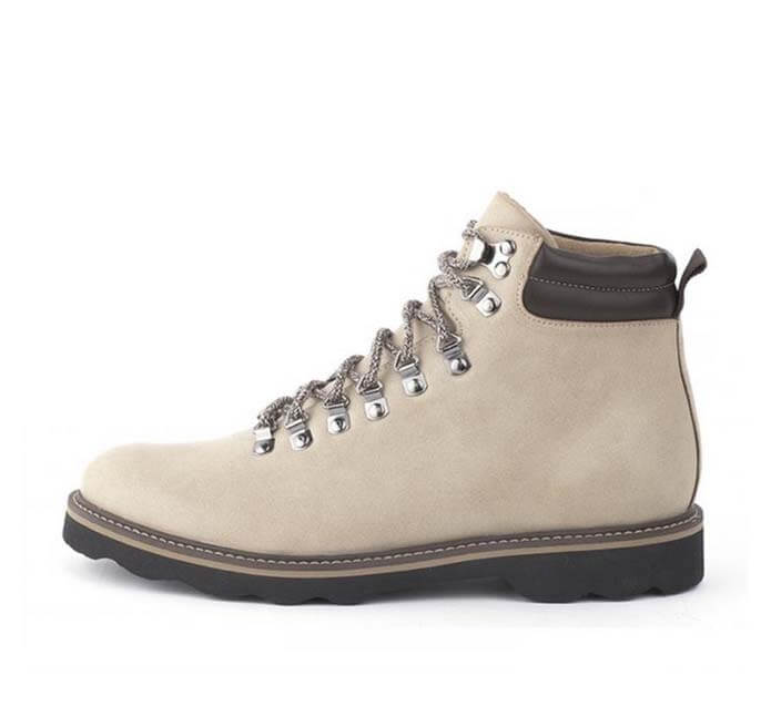 Ahimsa's Beige Vegan Faux Leather Timberland Boots Alternative