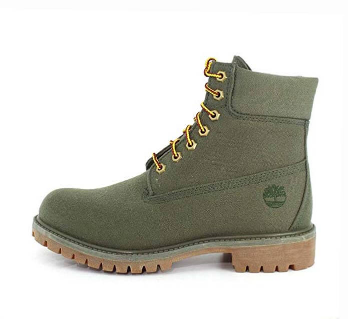 Green Official Vegan Timberland Army Boots