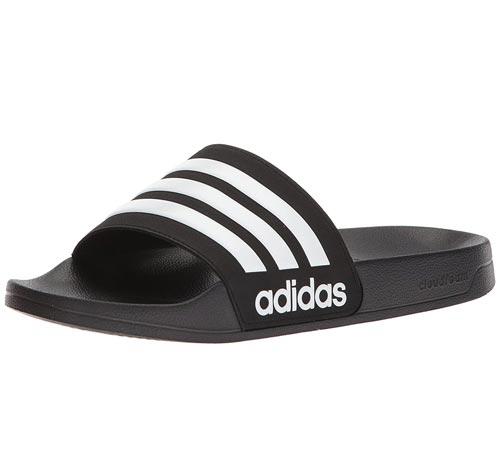 Vegan Adidas Adilette Black Shower Slides