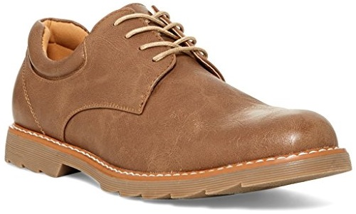 Giraldi Parker Mens Fashion Vegan Leather Derby Shoes